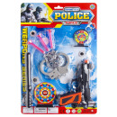 police gun set with accessories, blister card, 38,