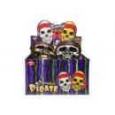 máscara pirata, 2 veces surtido , 21,5x16cm