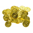 goldplated pirate coins, 3,4x0,2cm Ø3,4cm