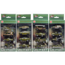 die cast Set of 4 military vehicle, 10,5x21,5x4,5c