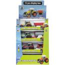 wholesale Models & Vehicles: die cast tractor + trailer, window box, 5,5x5,5x17