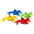 colored pb plane pp, 4 times assorted , 10cm