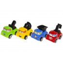 groothandel Speelgoed: bouwwagen pp, 4 maal geassorteerd , 6 cm