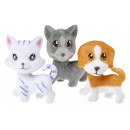Großhandel Sonstige: beflockte Katze & Hund, 4x7cm