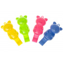 bear whistle assorted colors, whistle 7,25cm
