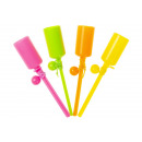 fluo ballgame with stick pph, 13x2,5cm