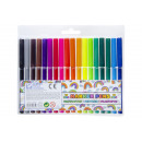 ingrosso Articoli da Regalo & Cartoleria: pennarelli Set di 18 penne, astuccio 16x18x1cm