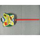 wholesale Decoration: butterfly/fishnet card, stick 49cm Ø24cm