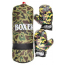 boxing bag military, 43x16cm