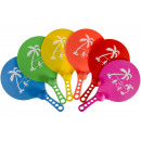 Set of 2 beachball racket with ball s, 33,5cm Ø20c