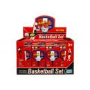 nagyker Sport és szabadidő: kosárlabda szett, 2x8x16,5cm - fejléc 2,5cm
