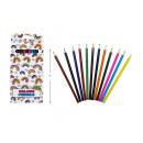 Großhandel Geschenkartikel & Papeterie: Farbstifte 12er Set, 18x9x1cm
