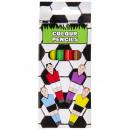 colored pencils Set of 6 short football, 9x4,5x1cm