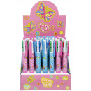 ballpen butterfly, colors 4 times assorted , 14,5c