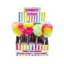 ballpen rainbow fluffy ball, 24cm Ø9cm