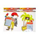mayorista Maletas y articulos de viaje: pirata pizarra mágica, 24x17cm