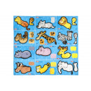 3d assorted animal shapes pp, 10,5x7,5cm - 2 sheet