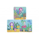 wholesale Gift Wrapping: paper puzzle mermaid, 3 times assorted , 14x14x3cm