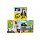 wholesale Gifts & Stationery: paper puzzle pirate, 3 times assorted , 14x14x3cm