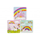 wholesale Gift Wrapping: paper puzzle unicorn, 3 times assorted , 14x14cm