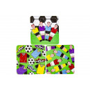 paper puzzle football, 3 times assorted , 14x14cm
