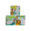 groothandel Overigen: papieren puzzel wilde dieren pph, 14x14x3cm