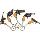 Großhandel Schlüsselanhänger: Schlüsselanhänger Metallkappenpistole, Pistole 6,5