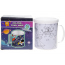 color your own mug space, 10,5x8x10cm