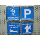 wholesale Bags & Travel accessories: traffic sign blue pp, 14x14cm