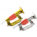 trumpet gold/silver small pp, trumpet 22cm