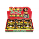wholesale ashtray: ashtray s round rasta, 8,5cm Ø8,5cm