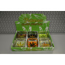 wholesale ashtray: ashtray square l rasta leaf, 9,5x9,5x4cm