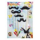party mustache, blister card, 25x35cm