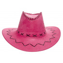 sombrero de vaquero rosa efecto cuero, 20cm Ø20cm