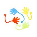 sticky hand s colored pp, bag 9x9cm-header 3cm-han