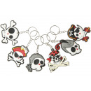 key chain pirate head, skull 5,5cm