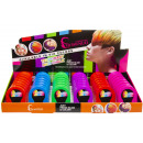 colored hairchalk, 6 times assorted , 5,5x4x1cm