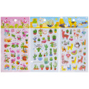 tropical stickers, 3 times assorted , 10x19cm