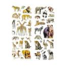 nagyker Ékszerek és órák: matrica vadállatok, kártya 17x7,5cm fejléc 4cm