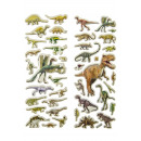 Großhandel Schmuck & Uhren: Aufkleber Dino, Karte 17x7,5cm Header 4cm