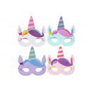 unicorn mask pp, 17x17cm