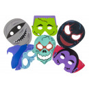 scary masks, 6 times assorted