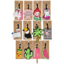 wholesale Travel Accessories: luggage tags pp, 12 times assorted , 18x8cm