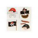 grossiste Bijoux & Montres:pirate Tattoo , 5x5cm