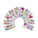 wholesale Piercing / Tattoo: sticker girl pp, 10 times assorted , 13x5cm
