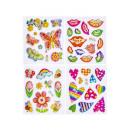 wholesale Piercing / Tattoo: shiny sticker girl pp, 4 times assorted , 7x11,5cm