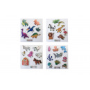 shiny sticker animal pp, 4 times assorted , 7x11,5