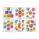 wholesale Piercing / Tattoo: shiny stickers emotions, 7x11,5cm