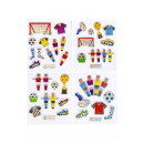 wholesale Piercing / Tattoo: shiny stickers football, 4 times assorted , 7x11,5