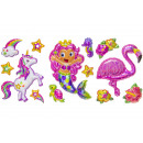 wholesale Piercing / Tattoo: balloon stickers pp, 3 times assorted , 25x15,5cm